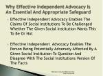 why effective independent advocacy is an essential and appropriate safeguard1