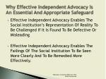 why effective independent advocacy is an essential and appropriate safeguard2