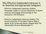 why effective independent advocacy is an essential and appropriate safeguard3