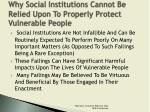 why social institutions cannot be relied upon to properly protect vulnerable people2
