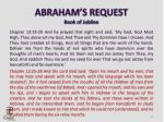 abraham s request book of jubilee