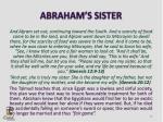 abraham s sister