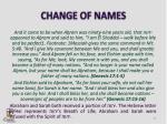 change of names
