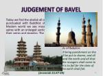judgement of bavel