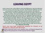 leaving egypt