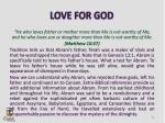 love for god