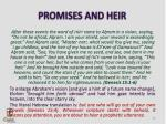 promises and heir