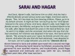 sarai and hagar