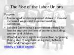 the rise of the labor unions1