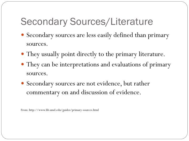 secondary literature definition