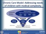 chronic care model addressing needs of children with medical complexity