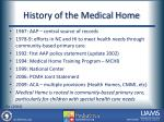 history of the medical home