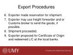 export procedures1