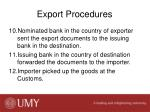 export procedures2