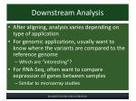 downstream analysis