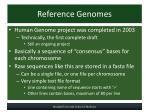 reference genomes