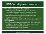 rna seq alignment solutions