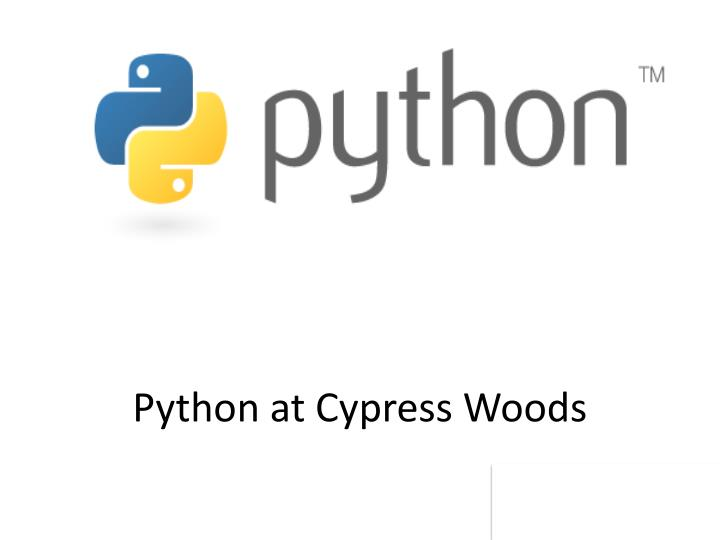 python at cypress woods n.