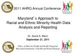 2011 ahrq annual conference