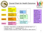 causal chain for health outcomes