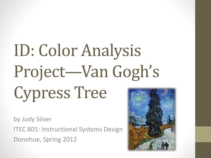 id color analysis project van gogh s cypress tree n.
