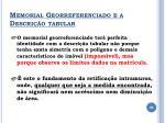 memorial georreferenciado e a descri o tabular1