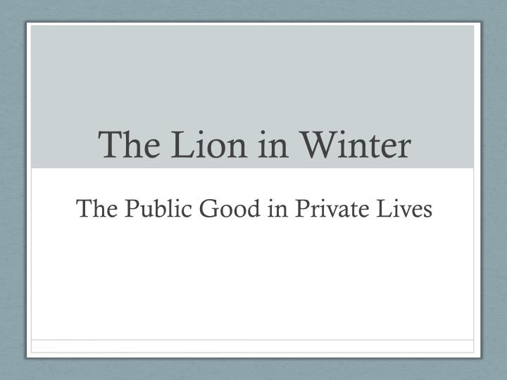 the lion in winter n.