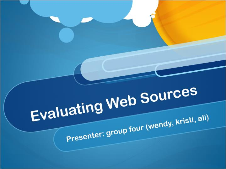 evaluating web sources n.