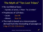 the myth of ten lost tribes