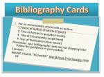 bibliography cards1