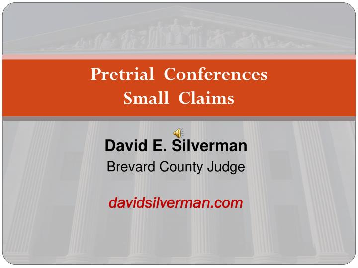 pretrial conferences small claims n.