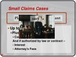 small claims cases