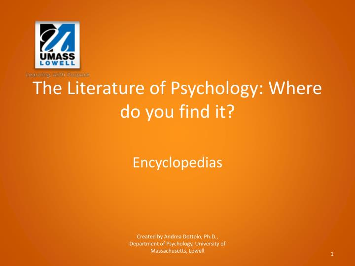 the literature of psychology where do you find it n.