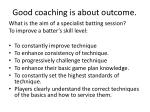 good coaching is about outcome