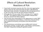 effects of cultural revolution reactions of pla