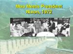 mao meets president nixon 1972