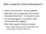 why a need for cultural revolution