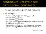 confidence intervals for orthogonal contrasts2