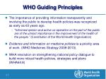 who guiding principles