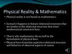 physical reality mathematics