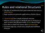 rules and relational structures