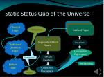 static status quo of the universe