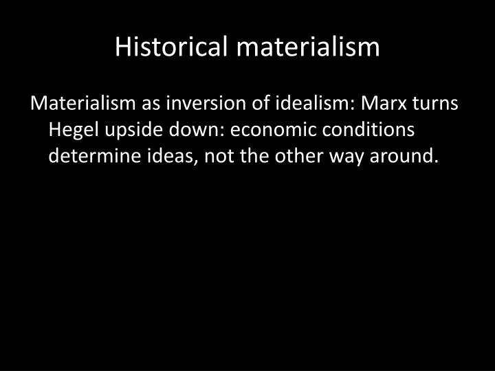 historical materialism n.