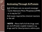 activating through g protein1