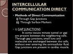 intercellular communication direct
