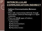 intercellular communication indirect