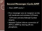second messenger cyclic amp
