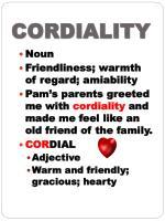 cordiality