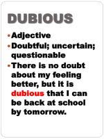 dubious