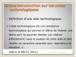br ve introduction sur les aides technologiques